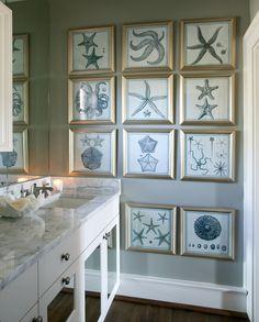 beachy Bathroom | Tobi Fairley & Associates