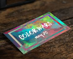 youth group color war event invite card