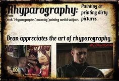 """#SPNandVocab, Vocabulary with a SPN twist -> Rhyparography: Painting or printing dirty pictures. From Greek """"rhyparographos"""" meaning """"painting sordid subjects"""""""