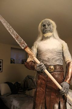 White Walker/Game of Thrones. One word of advice - if you're gonna make a really cool costume, take a photo somewhere other than your bedroom ;)
