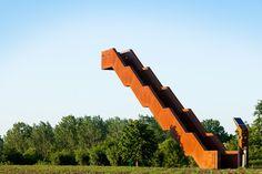 Close to Bone has designed a viewing tower in Tielt-Winge, Belgium.