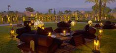 Maroc, l'Amanjena, complexe hôtelier proposant une ambiance romantique par son décor oriental