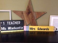 Teacher gifts. Wood signs.