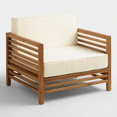 Wood Praiano Outdoor Occasional Chair