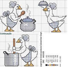 Cross-stitch Geese in the kitchen...   ideal gráfico de punto de cruz / Gallery.ru / Фото #12 - Уточки - Olsha