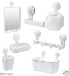 Ikea #stugvik #white bathroom #accessories #white toilet with suction cup, View more on the LINK: http://www.zeppy.io/product/gb/2/262039062625/