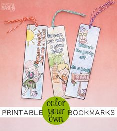 Create these color your own printable bookmarks with your kids and keep them on track with their summer reading!