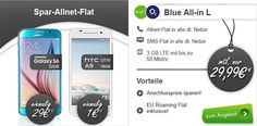 3GB LTE o2 Blue All-in L für 29,99€ mit TOP Smartphone ab 1€ http://www.simdealz.de/o2/gb-lte-blue-all-l/