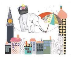 Elefant på line