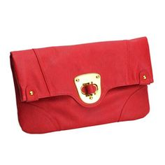 @Overstock - Urban Expressions 'Chelsea' Red Clutch. This chic Chelsea clutch by Urban Expressions is constructed of beautifully finished, 100-percent vegan faux leather in a bright red color. The flap-over top is secured with a goldtone turn-lock closure to protect the foliage print interior.http://www.overstock.com/Clothing-Shoes/Urban-Expressions-Chelsea-Red-Clutch/6781254/product.html?CID=214117