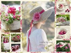 ❧ Collages de Thea Veerman ❧ Touch of Raspberry....by Thea Veerman