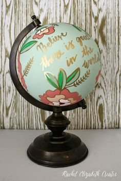 Welcome to the World! 17 Painted Globes for a Baby Shower or Nursery -Beau-coup Blog