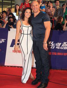 """Michelle Rodriguez y  Vin diesel en la premiere de """"Fast & Furious 6"""" en Seúl, Corea del Sur"""