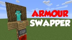 Minecraft 1.8: Redstone Tutorial - Armour Stand Swapper!