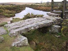 Clapper Bridge at Fairy Bridge, Dartmoor