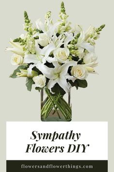 You can easily make all white sympathy flowers DIY using different types of flowers. This type of floral arrangement can be made with any type or variety. Diy Sympathy Flower Arrangements, Sympathy Flowers, Floral Arrangements, Unique Flowers, White Flowers, Different Types Of Flowers, Create Picture, Funeral Flowers, Paper Flowers Diy
