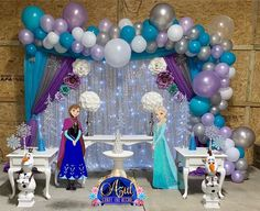 1 million+ Stunning Free Images to Use Anywhere 2nd Birthday Party Themes, Frozen Themed Birthday Party, Disney Frozen Birthday, 5th Birthday, Frozen Tea Party, Frozen 2, Frozen Party Decorations, Birthday Party Decorations, Frozen Balloons