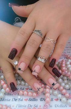 Elegant Nail Designs, Best Nail Art Designs, Elegant Nails, Pretty Nail Art, Cute Nail Art, Super Nails, Trendy Nails, Fun Nails, Hair And Nails