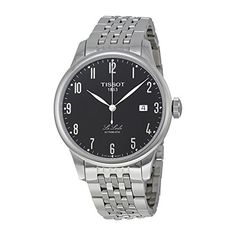 Men's Wrist Watches - Tissot Le Locle Black Dial Stainless Steel Mens Watch T41148352 -- Details can be found by clicking on the image.