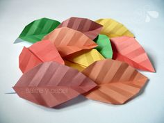 origami sheets.  Leaf origami