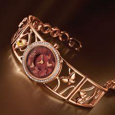 Titan Raga Aurora Fancy Watches, Trendy Watches, Cute Watches, Elegant Watches, Beautiful Watches, Wrist Watches, Gold Diamond Watches, Gold Watches Women, Ladies Bracelet Watch