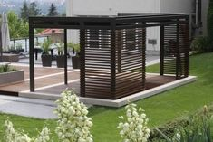 The pergola kits are the easiest and quickest way to build a garden pergola. There are lots of do it yourself pergola kits available to you so that anyone could easily put them together to construct a new structure at their backyard. Modern Pergola, Pergola Lighting, Deck With Pergola