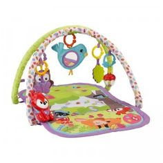 The 3-in-1 Musical Activity Gym from Fisher-Price is a playful activity gym that features bright colorful forest animals and keeps babies busy with toys, sounds, and music.