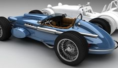 Zolland Design AB, a Swedish graphic arts and design firm that also goes by the name Vizualtech, has rendered an Indy Roadster style body they call the IndySeven with the correct dimensions to fit on a Caterham or Lotus Seven chassis. Caterham Cars, Caterham Seven, Caterham Super 7, Old Race Cars, Pedal Cars, Cars Auto, Lotus 7, Automobile, Auto Retro