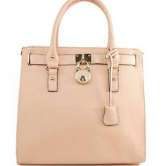 Amazon.com: Mk Designer Inspired Fashion Exotic Hamilton Tote Satchel Lock Embellishment Saffiano Handbag Purse with Adjustable Shlouder Strap Michael Kors Similar Style in Light Pink: Clothing $49.99