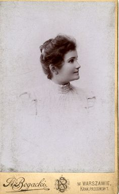 An unknown girl. Photograph taken in Warsaw. ca.1890