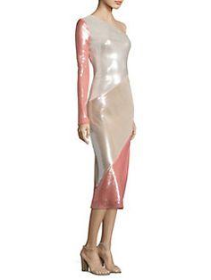 Diane von Furstenberg - One Shoulder Bias Silk Dress