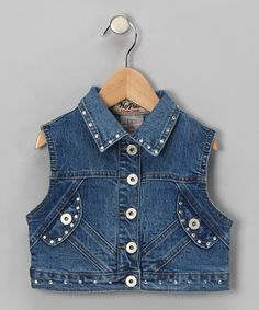 Take a look at this Cropped Denim Vest - Girls by Fashion Points: Tween Trends on #zulily today! #zulily and #fall