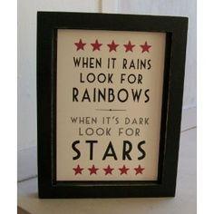New East of India Rainbow & Stars Sign - Amazon.co.uk