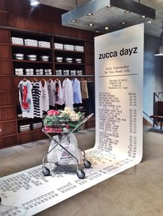 Display, visual merchandising, receipt | ZUCCa to Launch New Collection 'ZUCCa dayz'