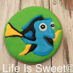 Finding Dory birthday cookies by Life Is Sweet