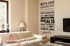 Adesivo de parede Família, ideal para o lar de quem ama a sua família.