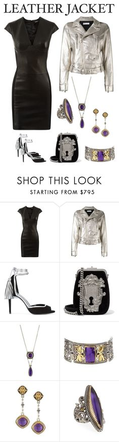 """""""Cool-Girl Style: Leather Jackets"""" by karen-galves on Polyvore featuring La Perla, RED Valentino, Pierre Hardy, Prada, Konstantino and leatherjackets"""