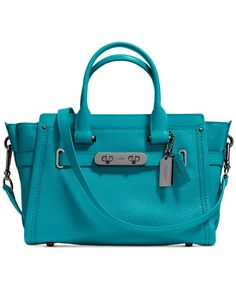 c0bf8baca2a COACH SWAGGER 27 IN PEBBLE LEATHER - Coach Handbags - Handbags    Accessories - Macy s Bolsos