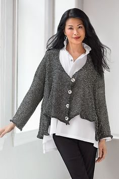 Picnic Cardy by SKIF Designs: Knit Cardigan available at www.artfulhome.com
