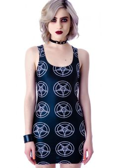 Tentacle Threads Baphomet Pentagram Tank Dress