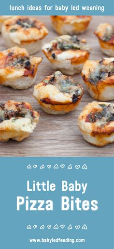 These healthy Little Baby Pizza Bites are perfect for little hands to hold. They're super tasty and full of nutrients that babies need.  via @https://www.pinterest.com/babyledfeeding