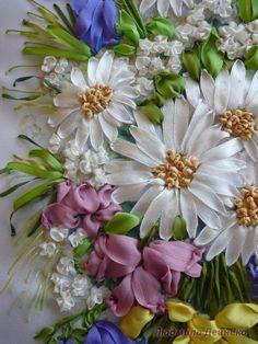 Gallery.ru / Розы в прямоугольной вазе - Вышивка лентами - silkfantasy