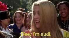 "It's not ""outie,"" it's ""audi."" As in the car brand, Audi. 