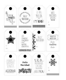 LLUVIA DE IDEAS: Etiquetas descargables para personalizar vuestros regalos