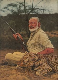 """But phony, Hemingway was not, and poseur he was not. He did not shoot lions and leopards because he was searching for the answer to life. He shot lions and leopards because he bloody well liked to hunt and shoot, and killing was the best punctuation mark at the end of the intricate and fascinating process of hunting.""  - Robert Ruark"