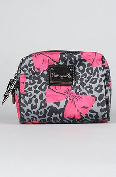 Betsey Johnson The Betseyville Cheetah Bows SM Cosmetic Bag