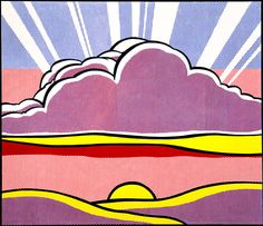 Sinking Sun, 1964 - Roy Lichtenstein - Oil and Magna on canvas, 68 x 80 inches, 172.7 x 203.2 cm