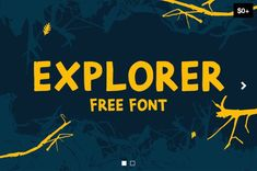 Explorer - Free Hand Drawn Font - Free Script & Handwritten Fonts on FreeDune Hand Drawn Fonts, Free Hand Drawing, Handwritten Fonts, Hand Painted Signs, The Great Outdoors, How To Draw Hands, Explore, Artist, Avril