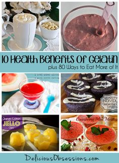 10 Health Benefits of Gelatin, plus 80 Ways to Eat More of It // deliciousobsessions.com #realfood #gelatin