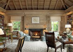 pecky cypress wood paneling can be made okay-- color scheme for the family room. pale blue and creams or green and ivory would work too. Fireplace Wall, Fireplace Surrounds, Pecky Cypress Paneling, Caribbean Homes, Interior Decorating, Interior Design, Cabin Interiors, Living Spaces, Living Rooms